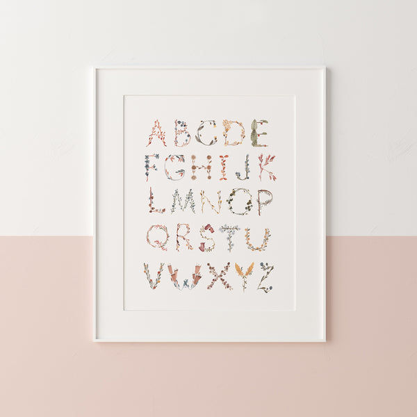 Small Poster - Alphabet Floral