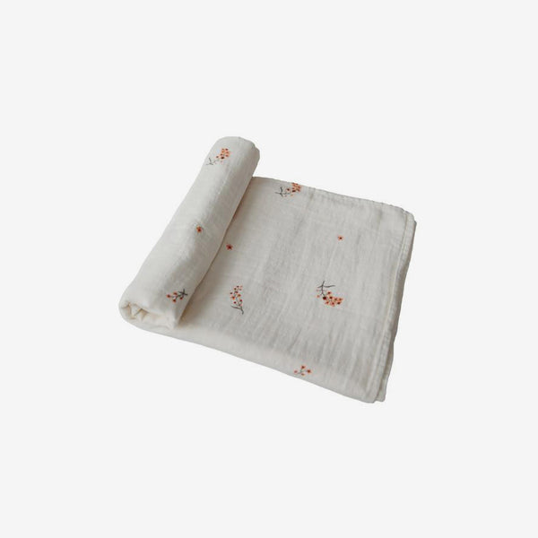 Organic Muslin Swaddle - Flowers