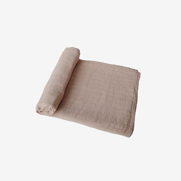 Organic Muslin Swaddle - Pale Taupe