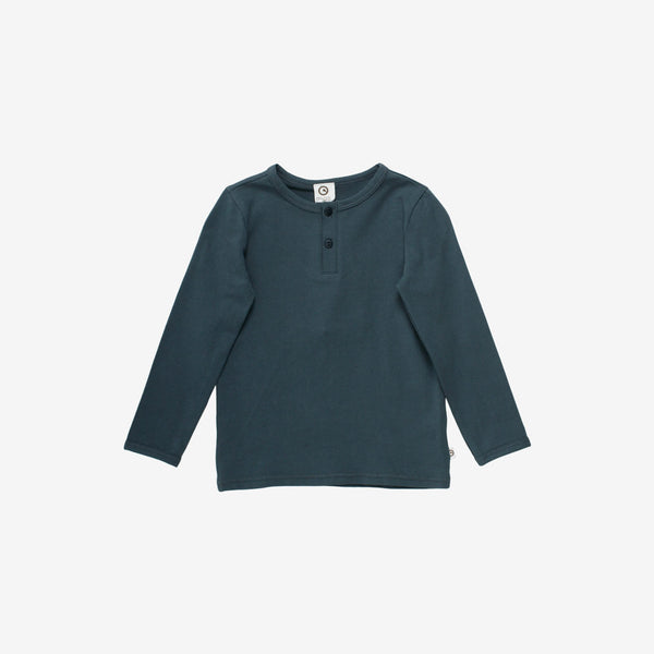 Cozy Organic L/S Henley - Midnight