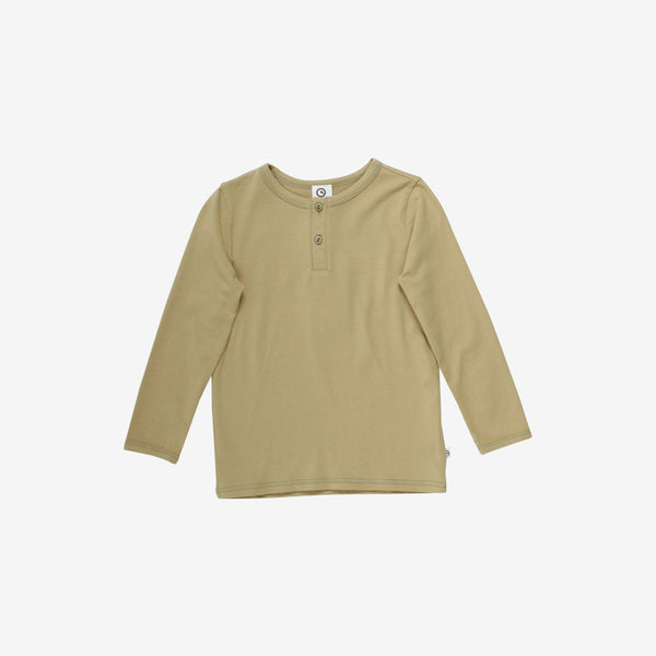 Cozy Organic L/S Henley - Olive