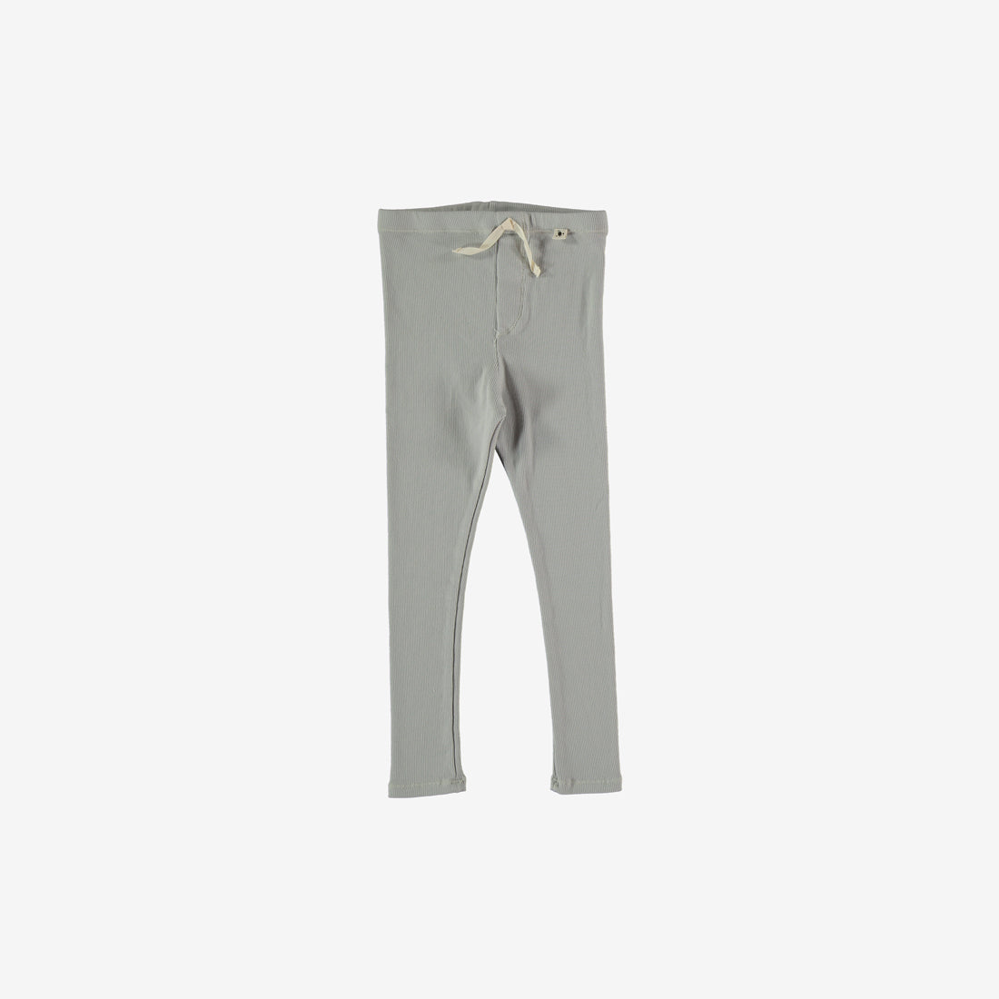 Blake Organic Rib Leggings - Light Grey