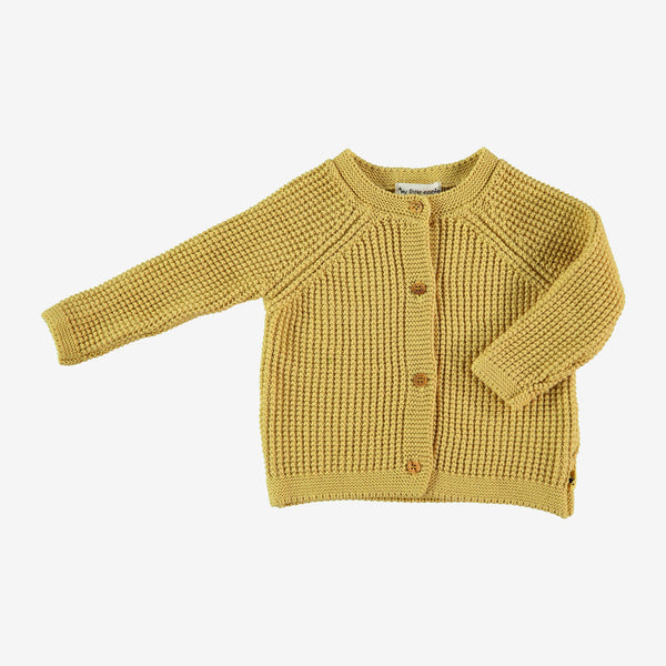 Moss Stitch Cardi Jacket - Maize