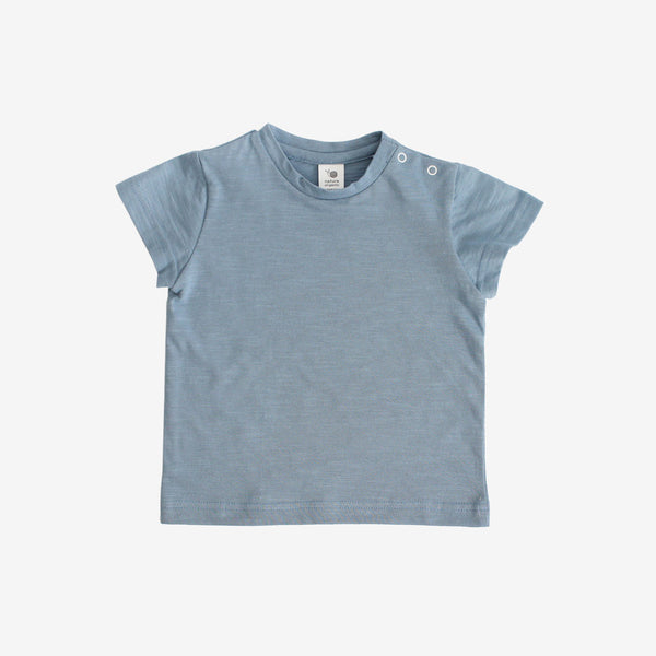 Basic Organic Cotton Tee - Denim Blue