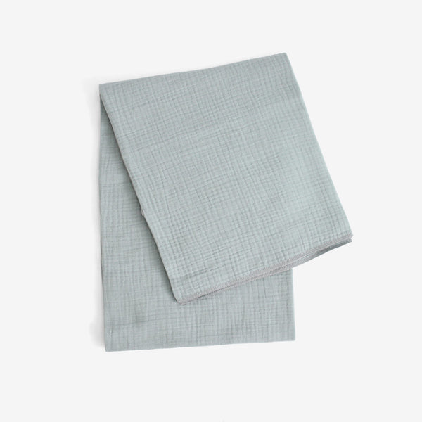 Crinkled Muslin Organic Blanket - Powder Blue