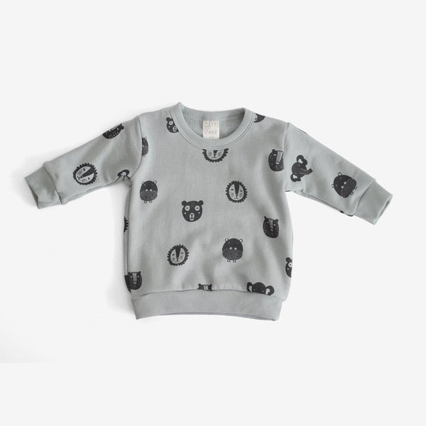 Animals Organic Sweatshirt - Storm