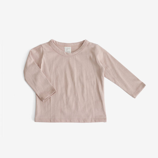 Basics Organic L/S Tee - Dusty Rose