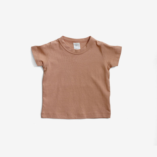 Basics S/S Organic Tee - Toasted Almond