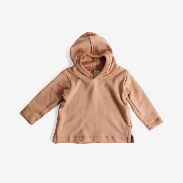 Organic French Terry Hoodie - Toasted Almond