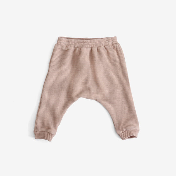 Organic Thermal Harem Pants - Dusty Rose