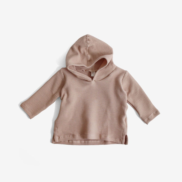 Organic Thermal Hoodie - Dusty Rose