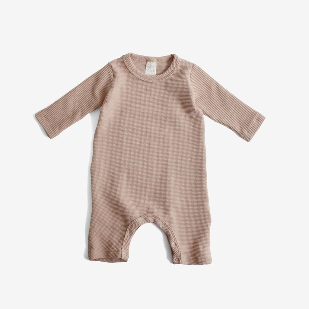 Organic Thermal Jumpsuit - Dusty Rose