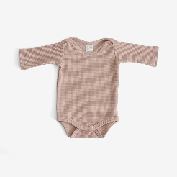 Organic Thermal Onesie - Dusty Rose