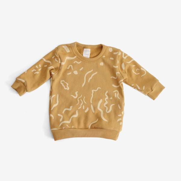 Painted Print Organic Sweatshirt - Gold