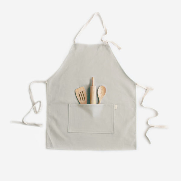 Brushed Twill Apron with 3-piece Tool Set - Taupe