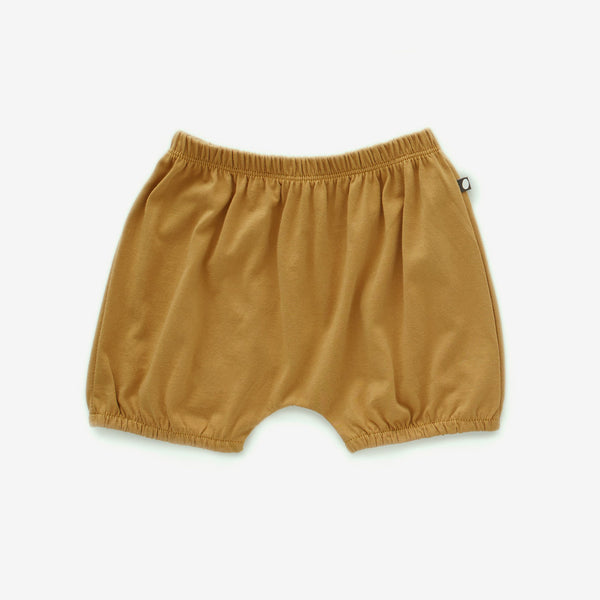 Organic Pima Bubble Shorts - Ochre
