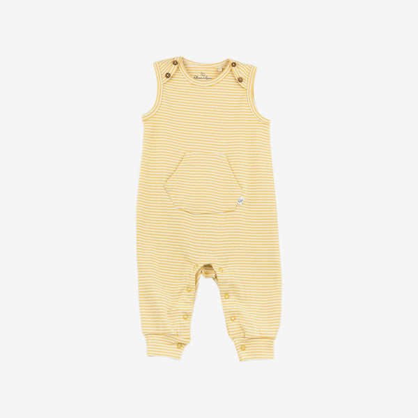 Essentials Organic S/L Coverall - Gold Stripe