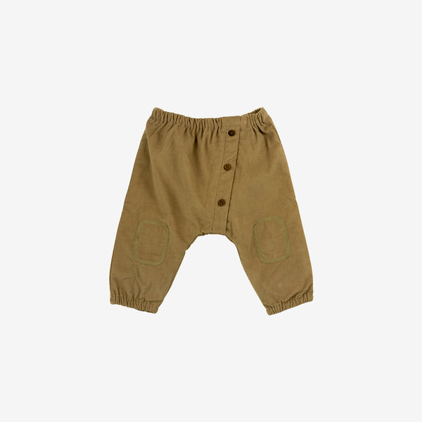 Organic Pima Babycord Pant - Buffalo Brown