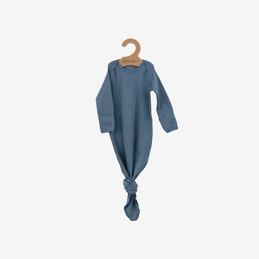 Organic Pima Essentials Gown - Slate Blue