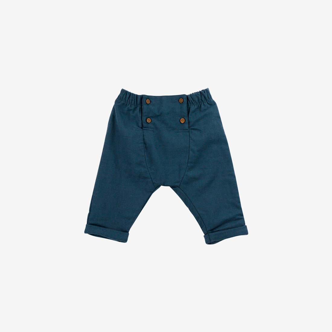 Organic Pima Woven Button-front Trouser
