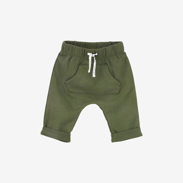 Pouch Pocket Organic Pant - Olive