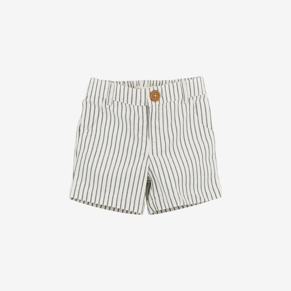 Taupe Stripe Organic Woven Short