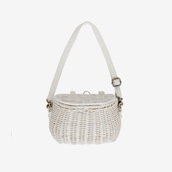 Chari Mini Bike Basket - White