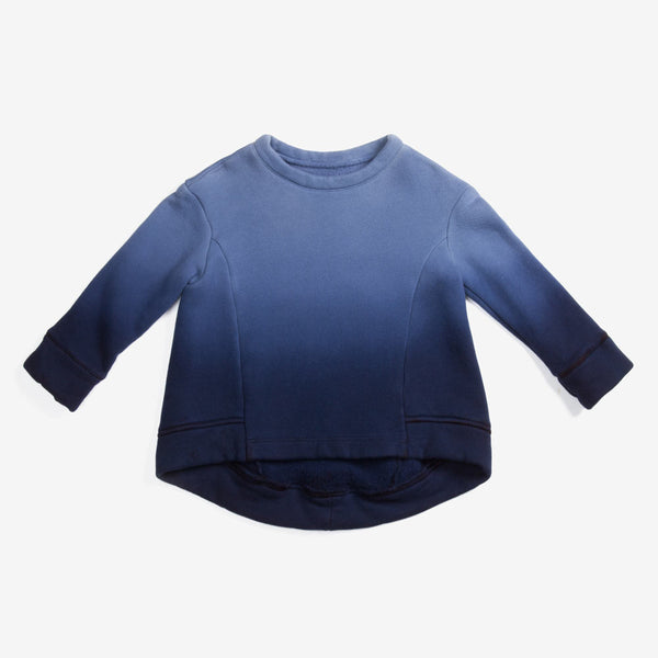 Ombre Structured Sweatshirt - Indigo