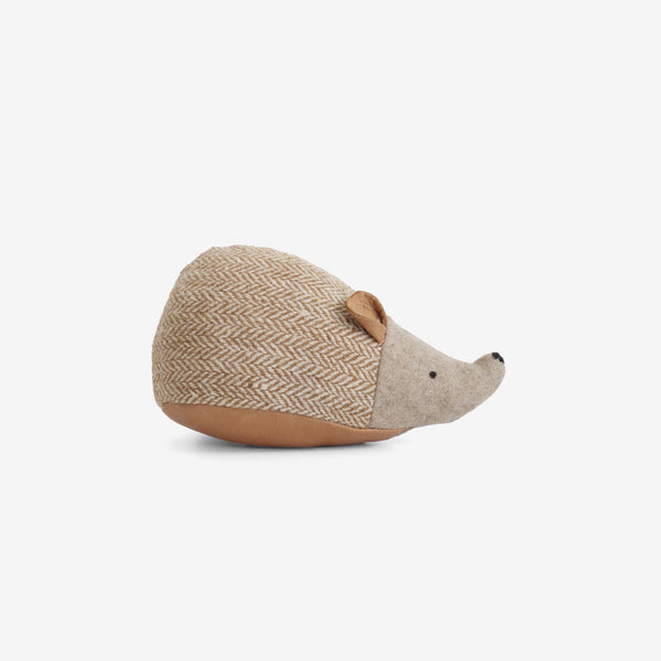 Little Woolie Hedgehog Rattle - Tawny