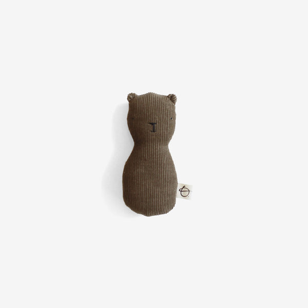 Bear Rattle - Brown Corduroy