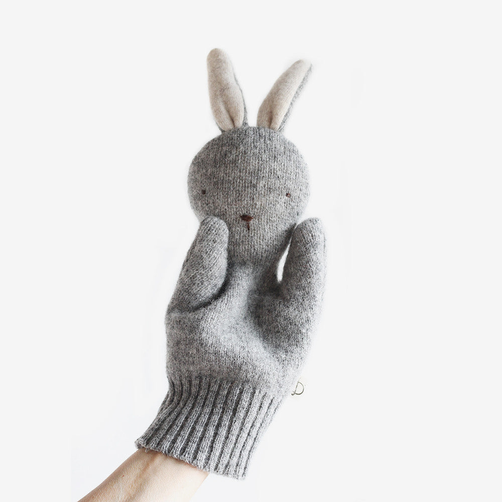 Bunny Puppet - Grey