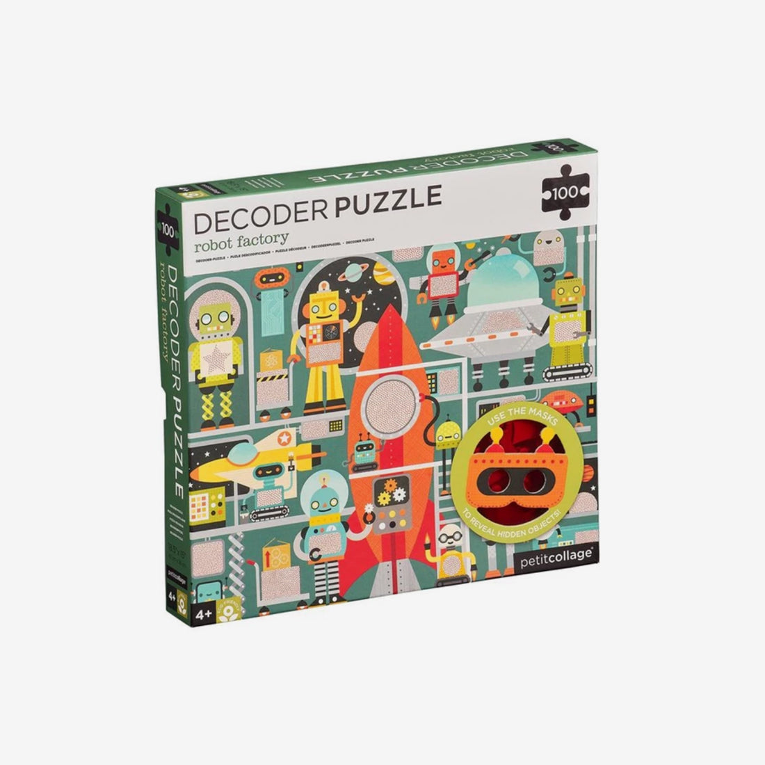 100-Piece Decoder Puzzle - Robot Factory