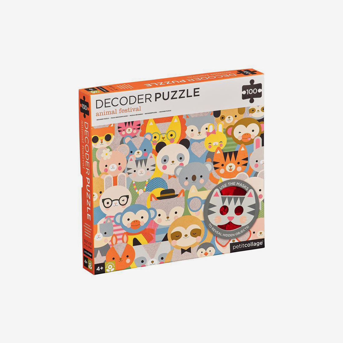 100-Piece Decoder Puzzle - Animal Festival
