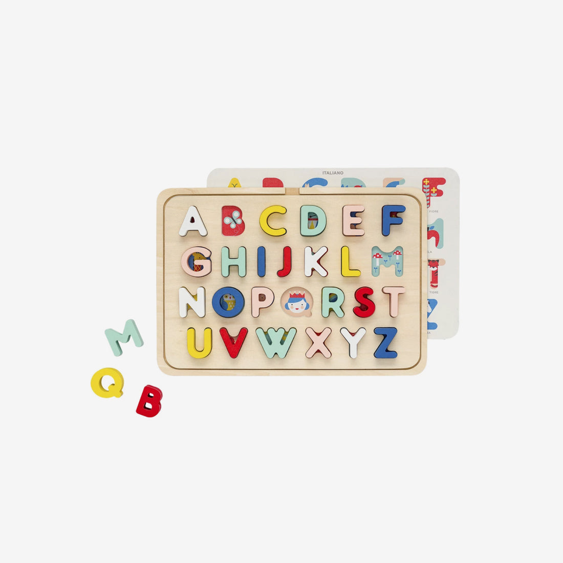 Wood Tray Puzzle - Multi-Language ABC