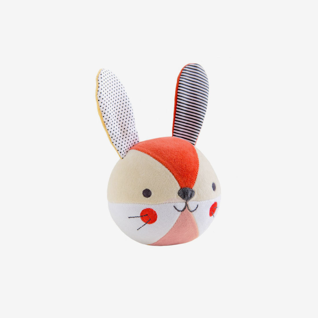 Organic Soft Chiming Ball - Bunny Blush