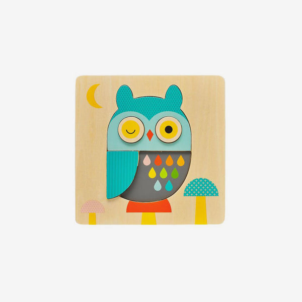 Wood Tray Puzzle - Little Owl