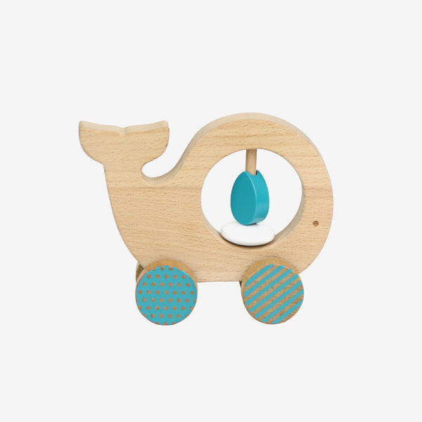 Wooden Push-along - Whale