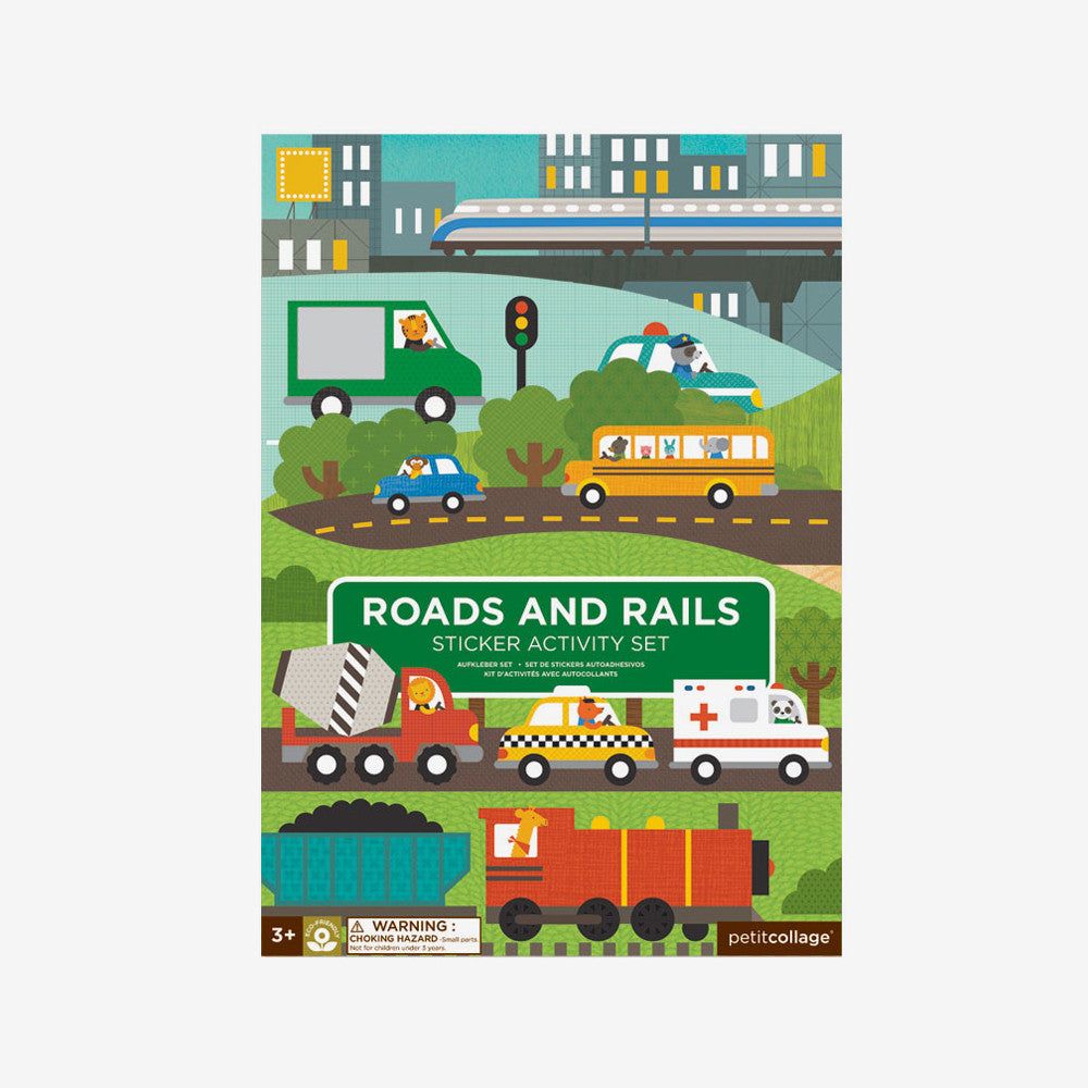 Roads & Rails Reusable Stickers Activity Set