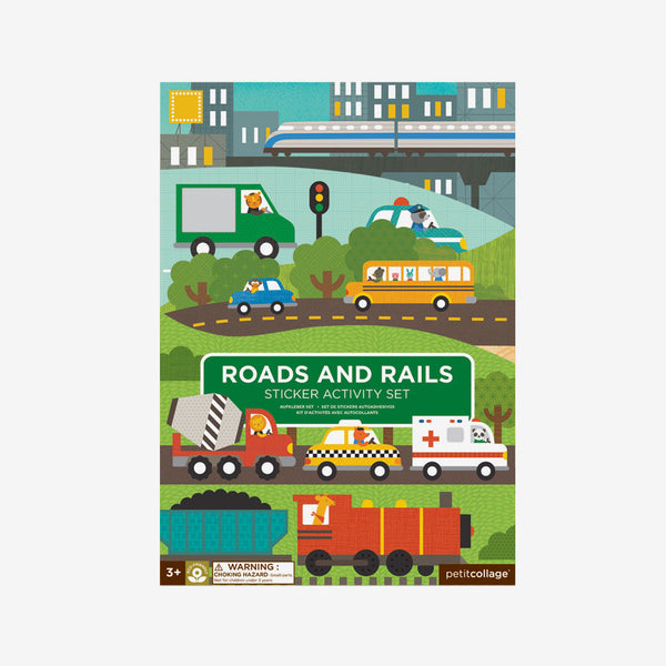 Reusable Stickers Activity Set - Roads & Rails