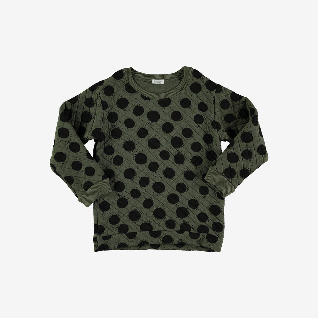 Big Dot Quilted Sweatshirt