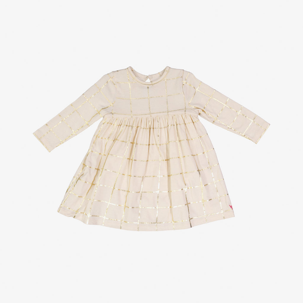 Veda Gold Grid Baby Dress