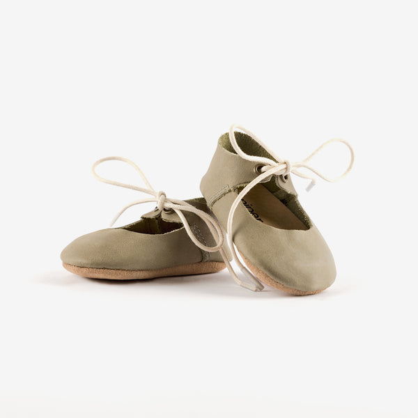 Mary Jane Baby Shoe - Moss