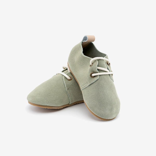 Olivine Suede Oxfords