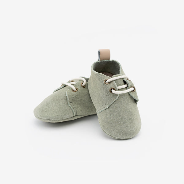 Olivine Suede Oxfords - Baby