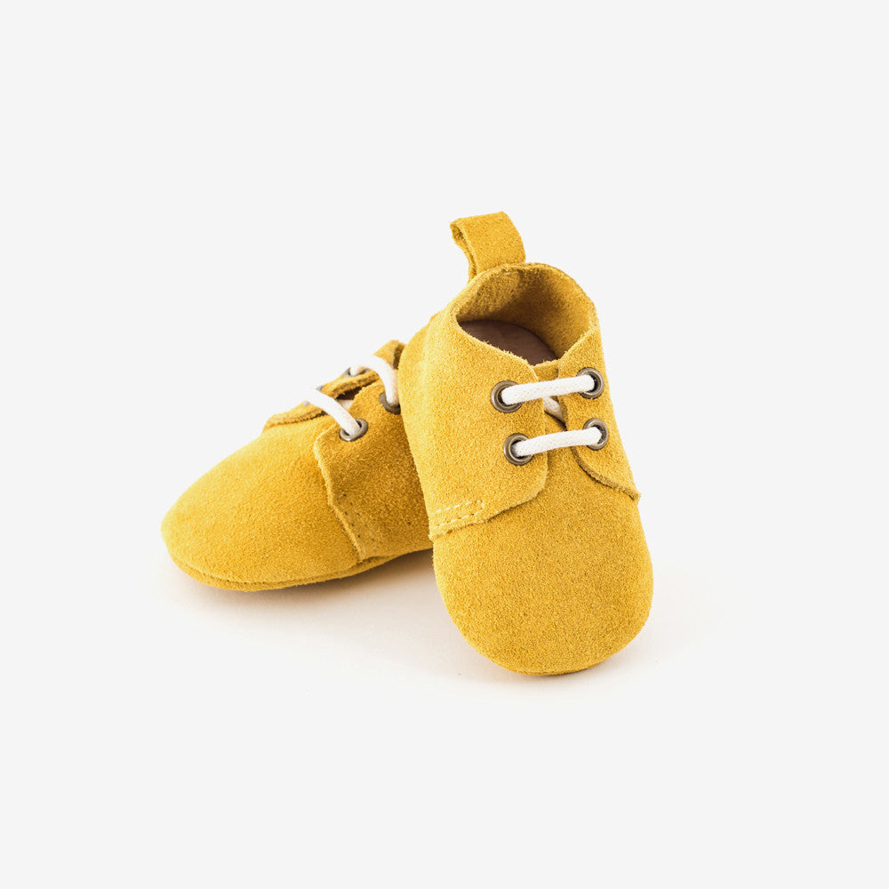 Mustard Suede Oxford - Baby