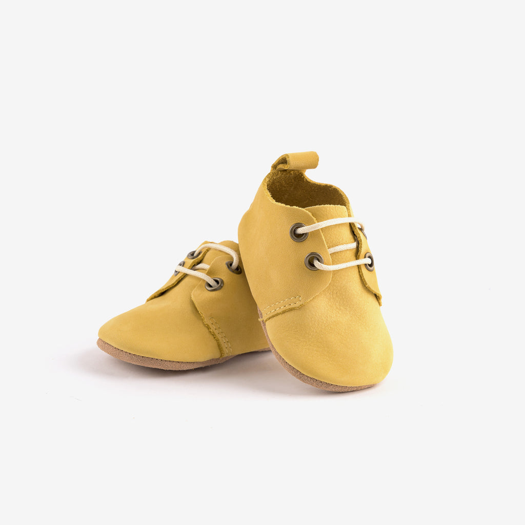 Soft Sole Baby Oxfords - Dijon