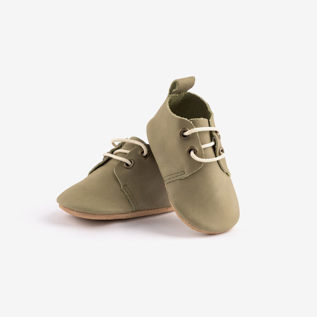Soft Sole Baby Oxfords - Moss