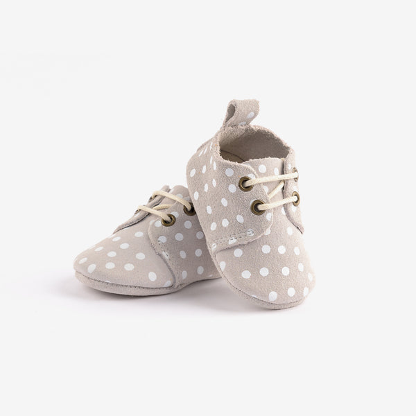 Soft Sole Baby Oxfords - Polka Dot