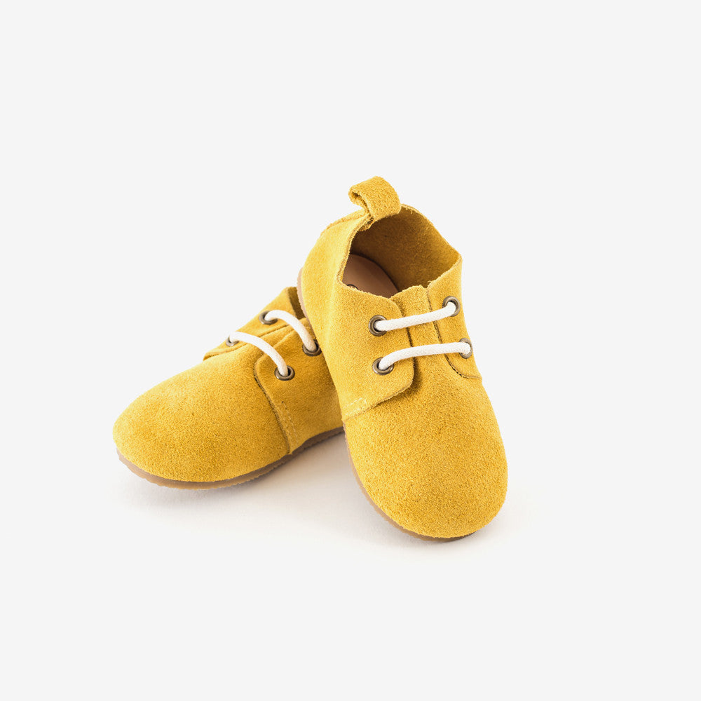 Mustard Suede Oxfords