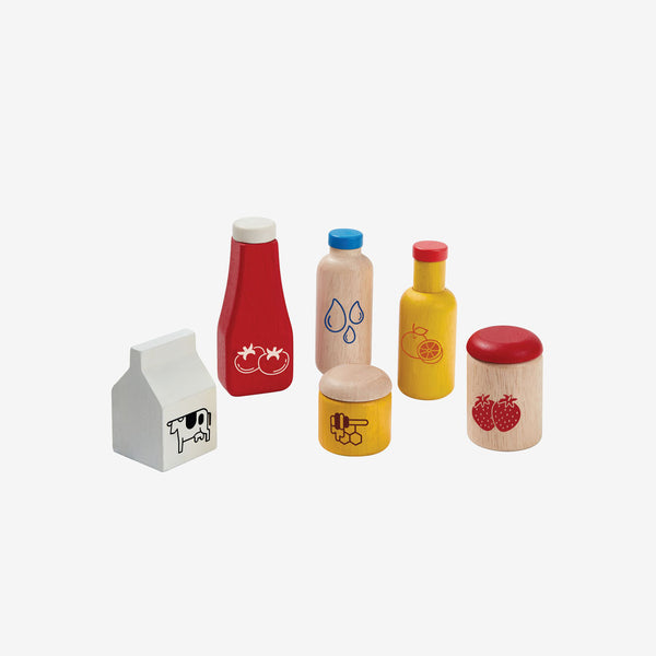 Play Food - Condiments & Beverages Set